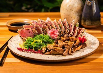 Sashimi de Atum Crostado