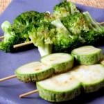 Robata de brócolis ou abobrinha - NAKOMBI