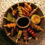 Robata de frango com cebolinha - yakitori - NAKOMBI