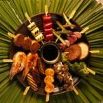 Robata de shimeji - cogumelos pequenos - NAKOMBI