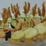 Tempurá misto camarão e legumes empanados - NAKOMBI