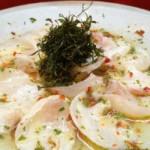 Ussuzukuri peixe branco - prato preto - NAKOMBI