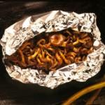 Shimeji no alumínio - cogumelos pequenos - NAKOMBI