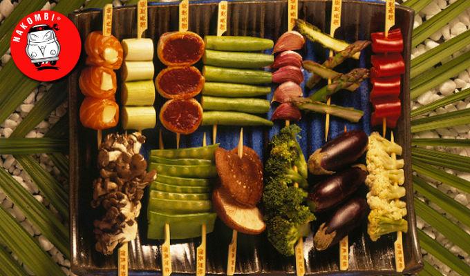 Alimentação saudável em um restaurante japones - NAKOMBI